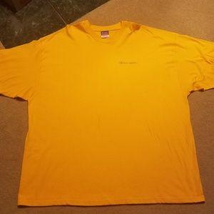 Champion Mens XXL Yellow Short Sleeve tshirt